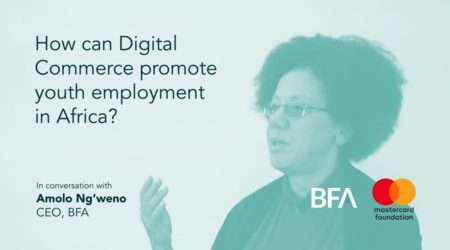 How can digital commerce promote youth employment in Africa?