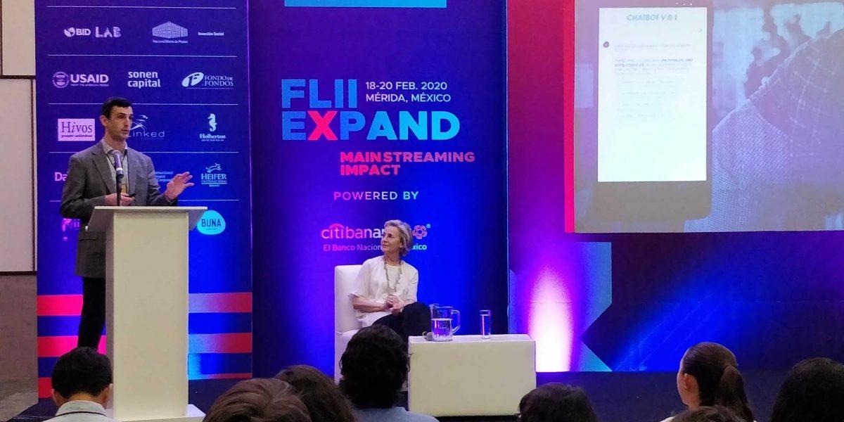 Benjamin Mazzotta presenting at FLII Mexico 2020