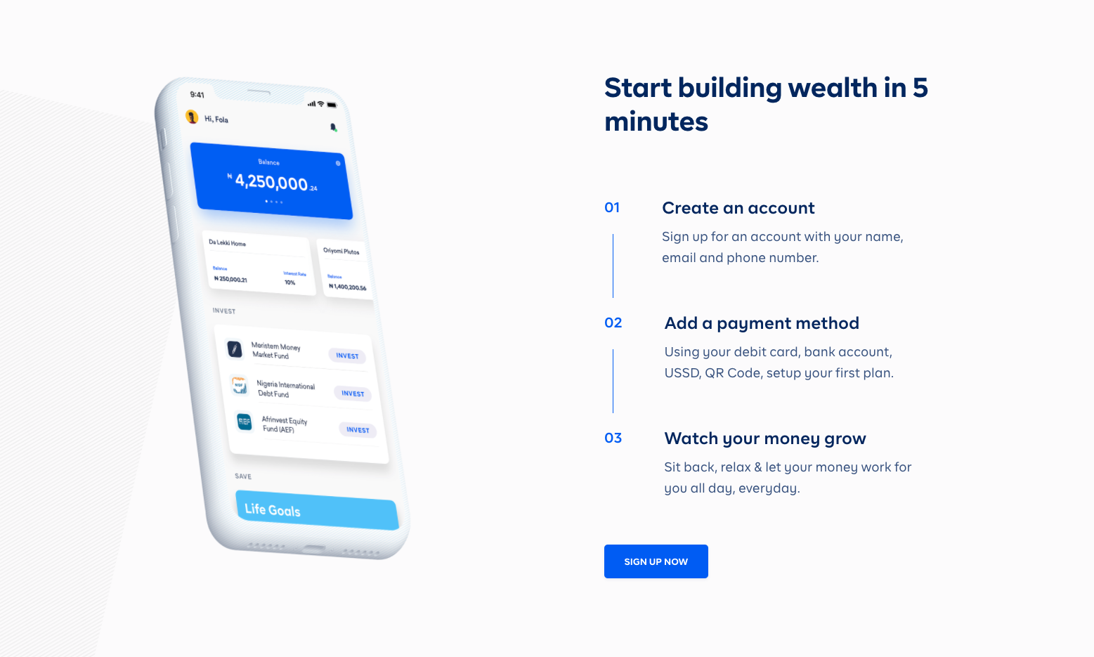 Cowrywise UX and UI