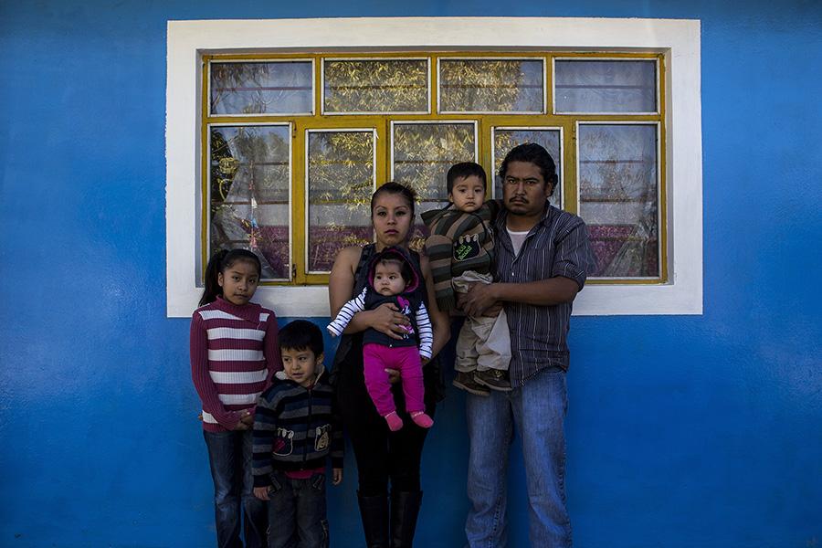 Family in Santa Clara, Mexico.