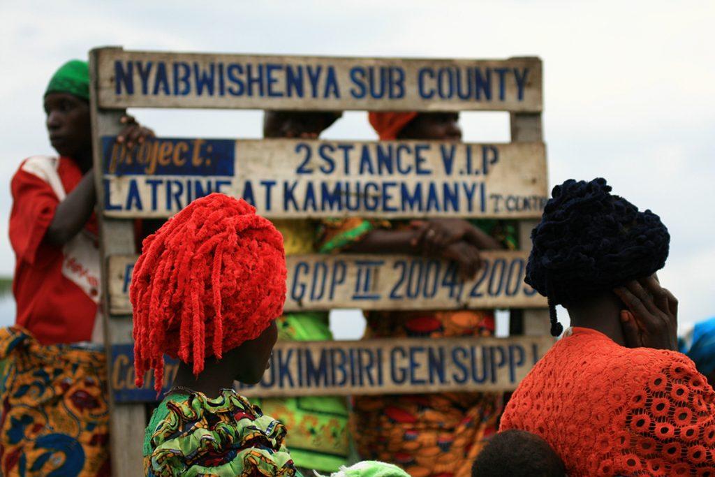 Refugees on Congo-Uganda border
