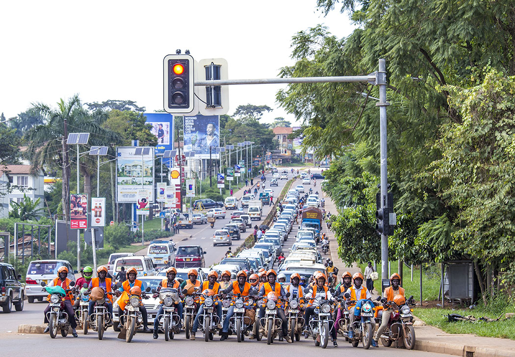 A typical crowded Kampala street scene before Covid-19 lockdown