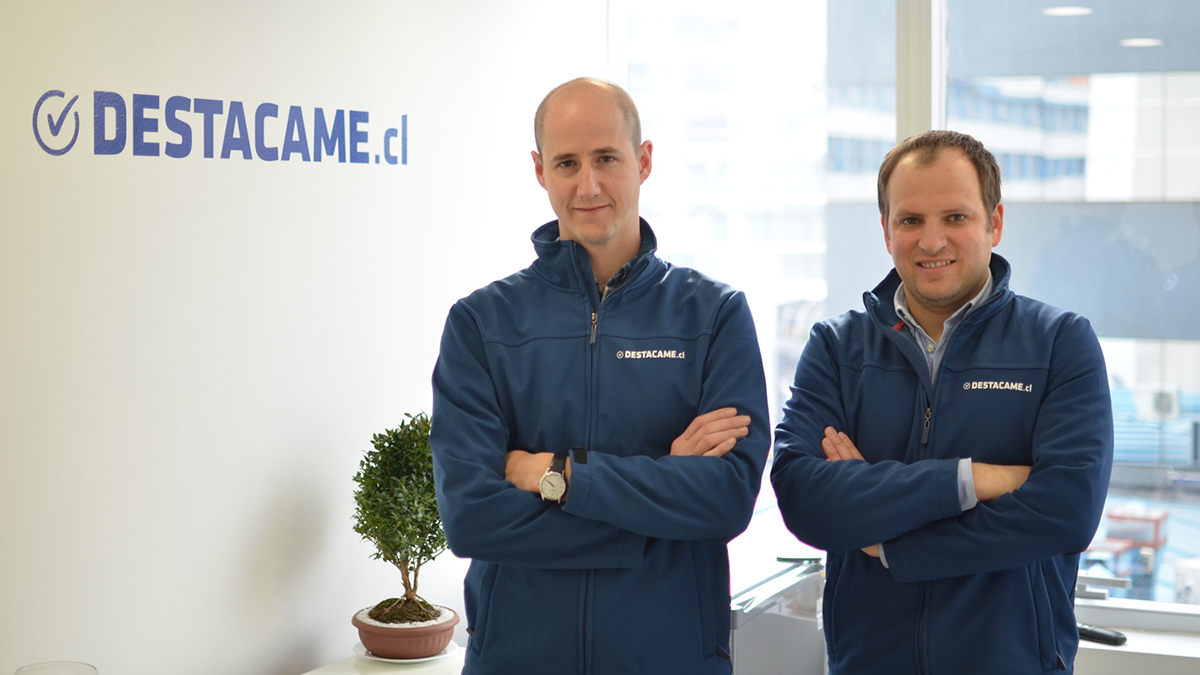 Sebastián Ugarte and Jorge Camus, cofounders of