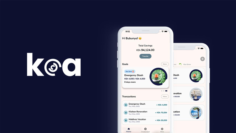 Koa Savings app screen