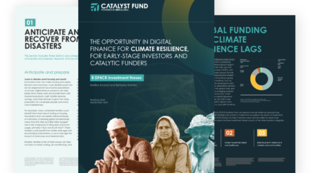 The opportunity in Digital Finance for Climate Resilience (DF4CR)